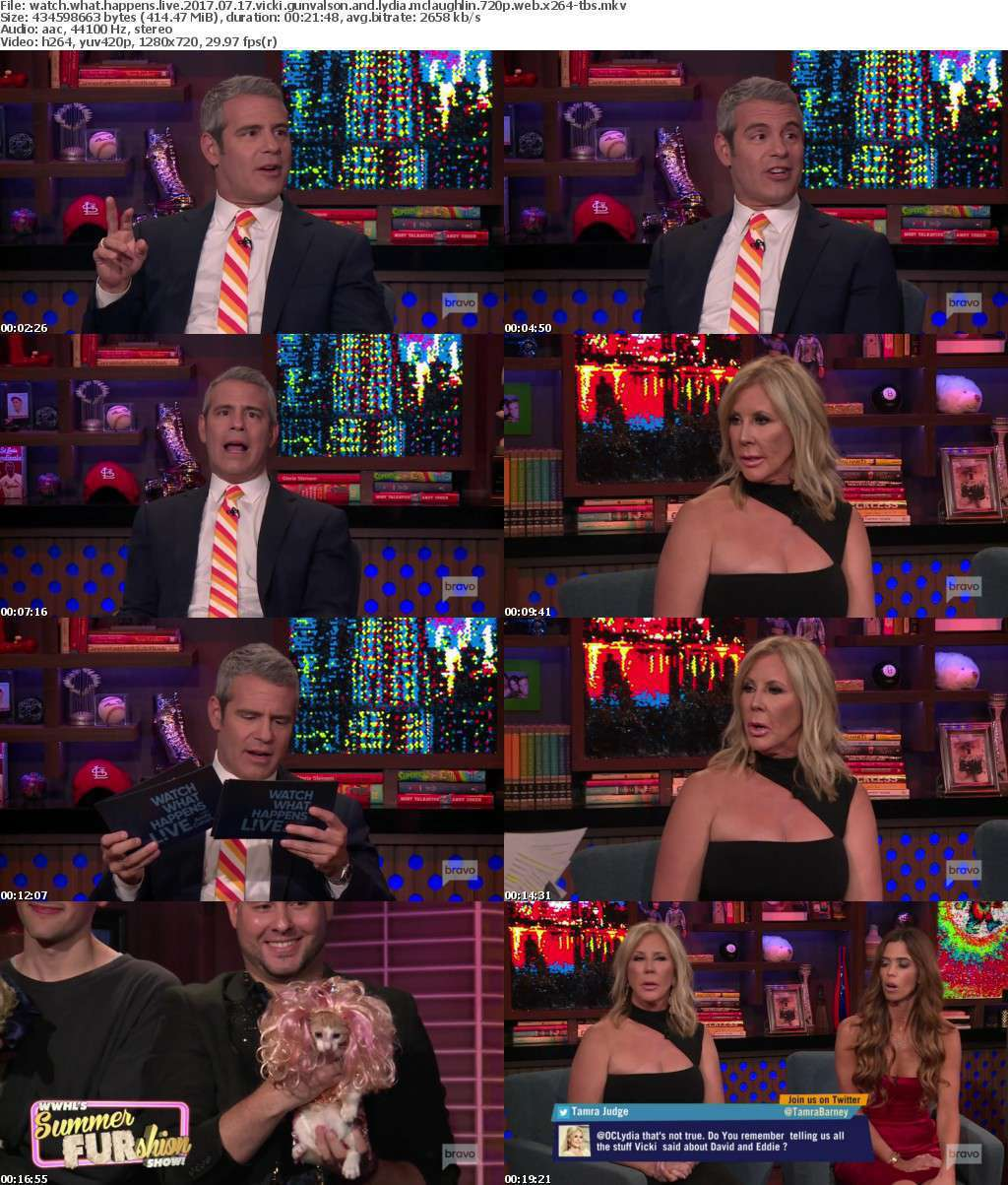 Watch What Happens Live 2017 07 17 Vicki Gunvalson and Lydia McLaughlin 720p WEB x264-TBS