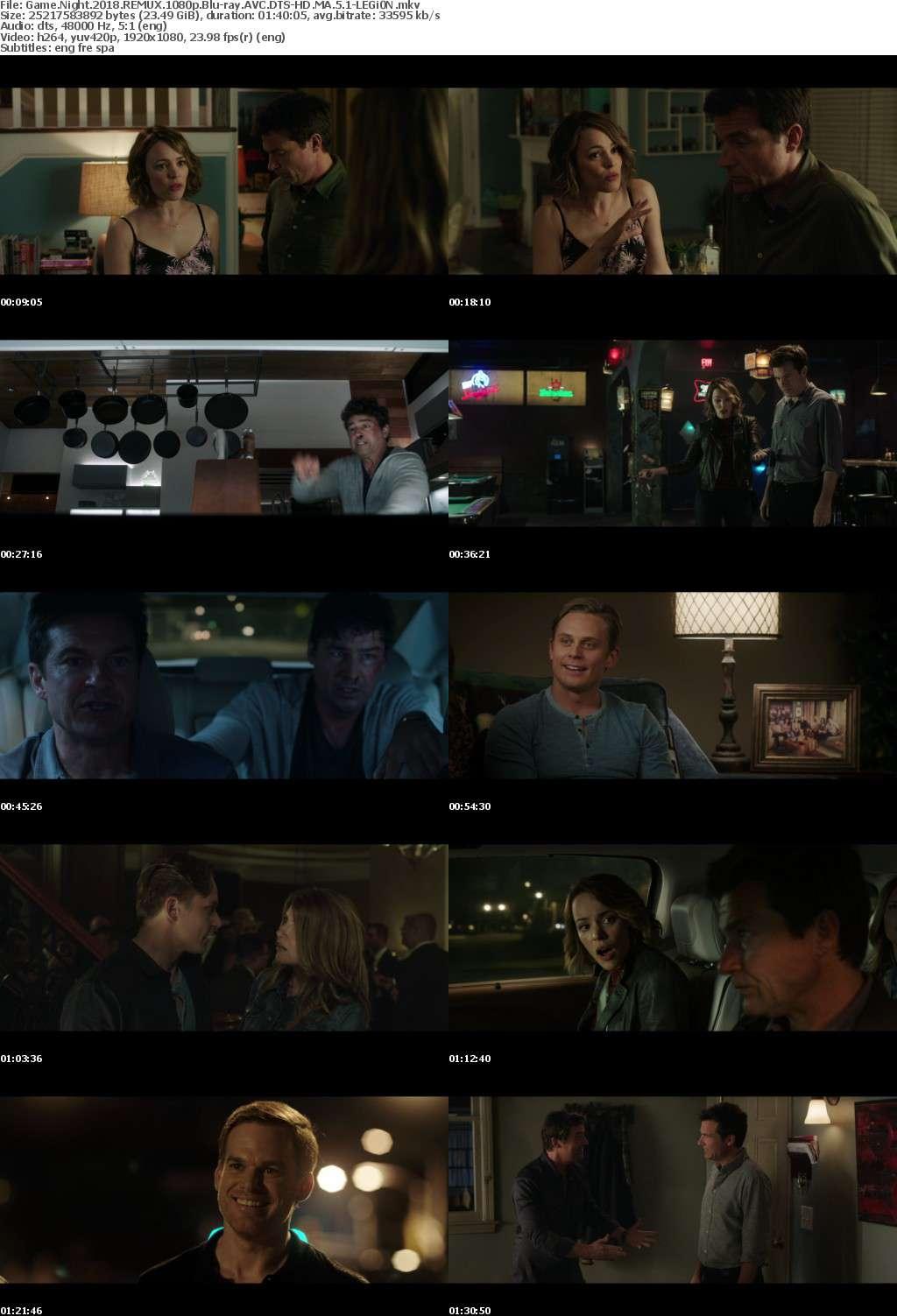 Game Night 2018 REMUX 1080p Blu-ray AVC DTS-HD MA 5 1-LEGi0N