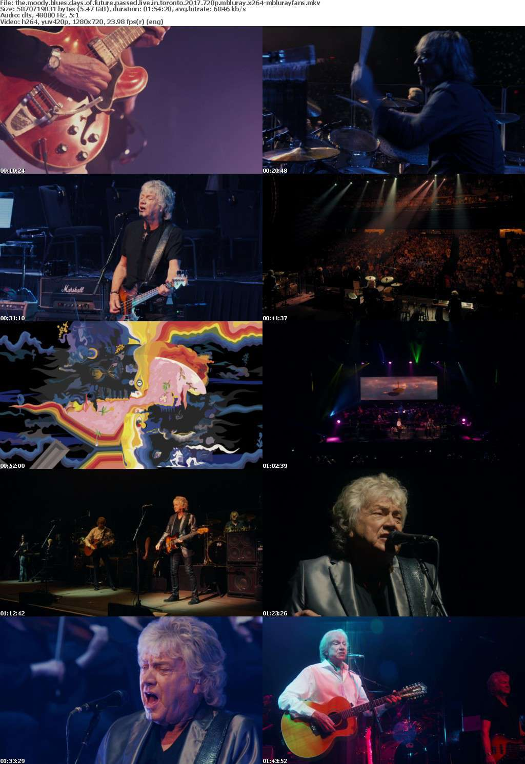 The Moody Blues Days Of Future Passed Live in Toronto 2017 720p MBLURAY x264-MBLURAYFANS