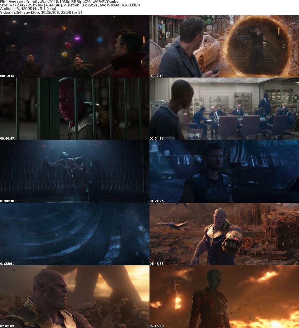 Avengers Infinity War (2018) 1080p BRRip X264 AC3-EVO
