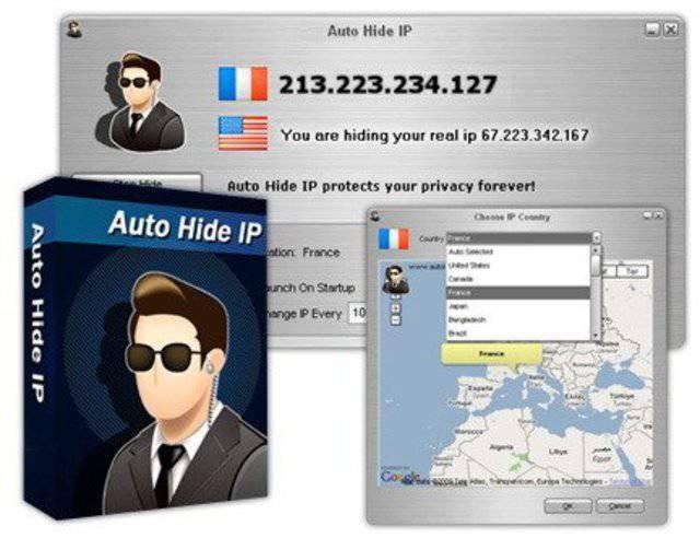 Auto Hide IP - позволит вам сидеть в Интернете анонимно, менять свой IP адр
