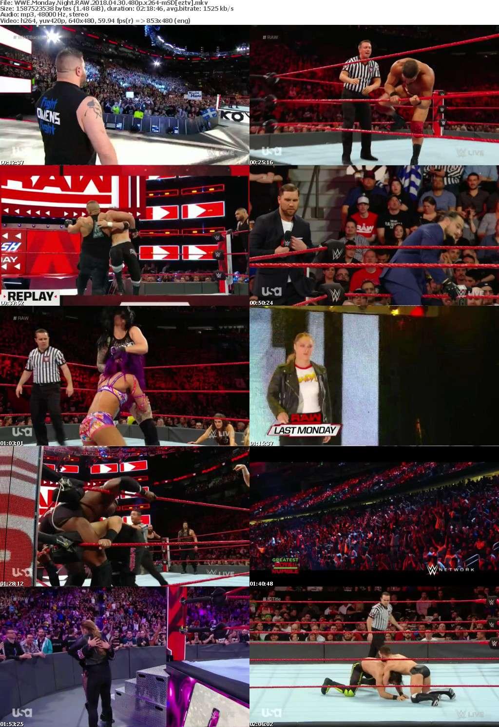 WWE Monday Night RAW (2018) 04 30 480p x264-mSD