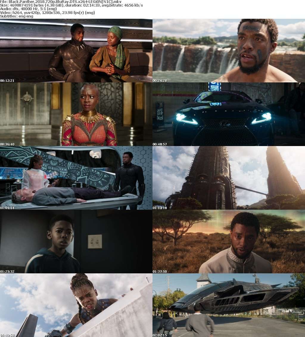 Black Panther (2018) 720p BluRay DTS x264-LEGi0N