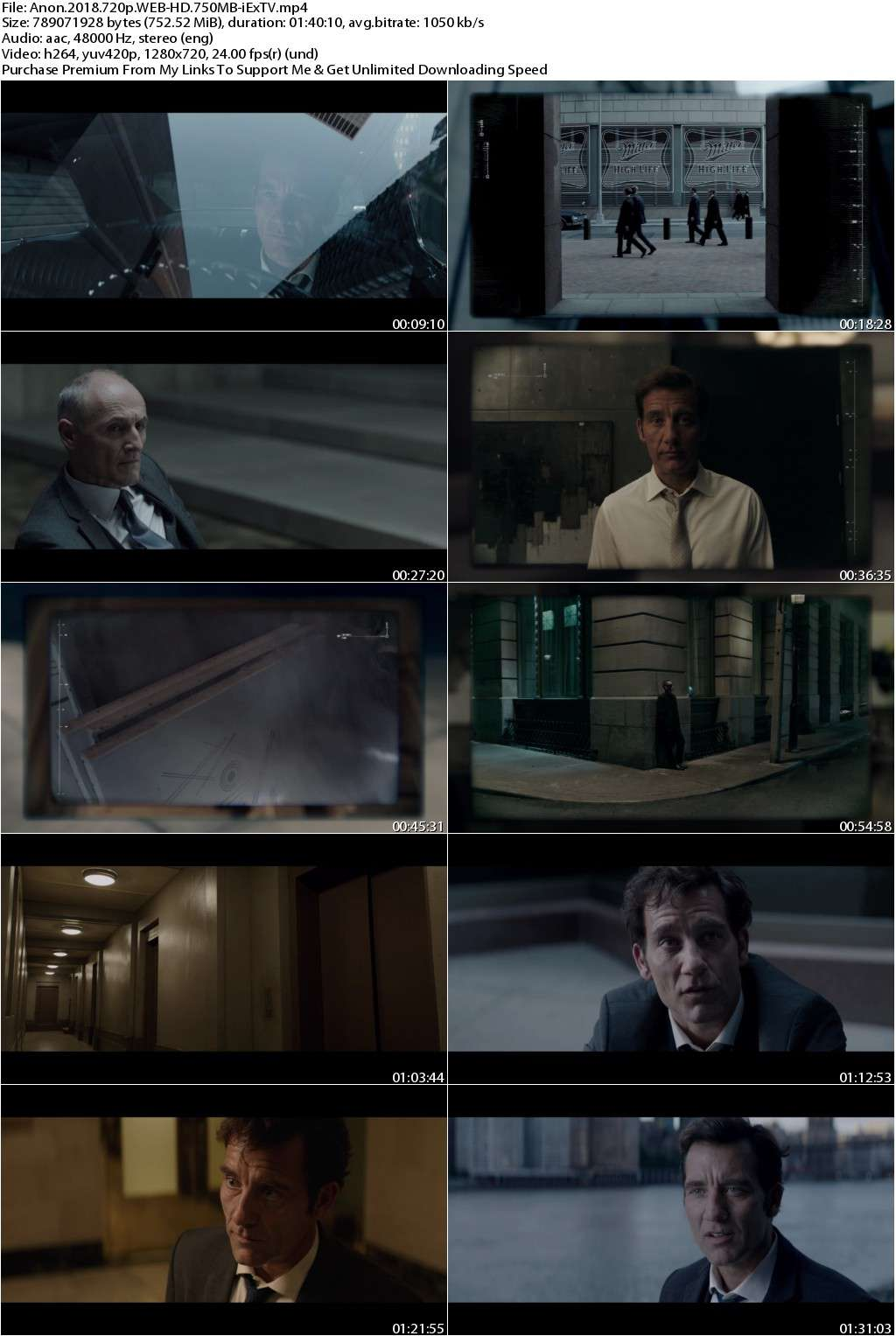 Anon (2018) 720p WEB-HD 750MB-iExTV