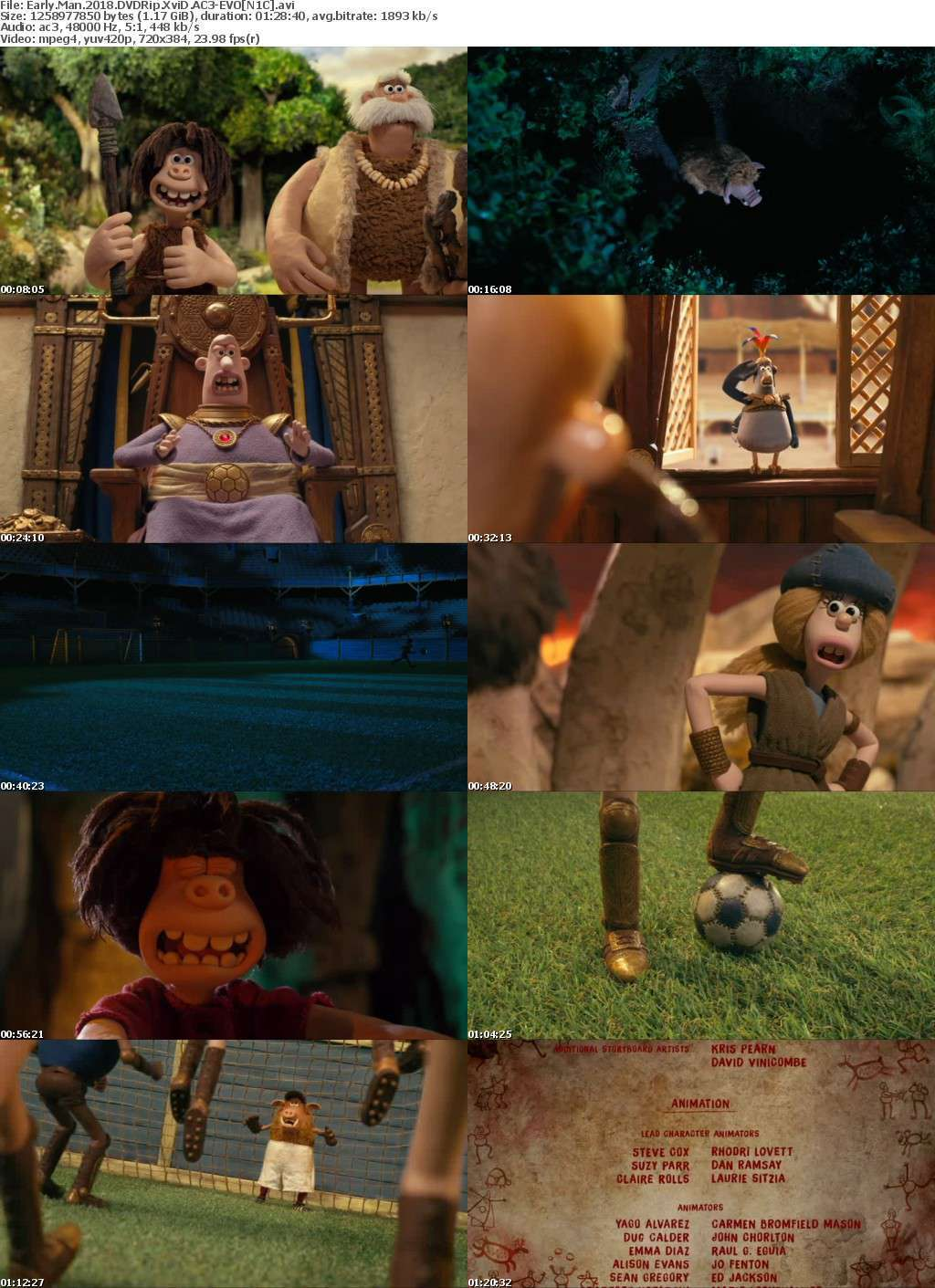 Early Man 2018 DVDRip XviD AC3-EVO[N1C]
