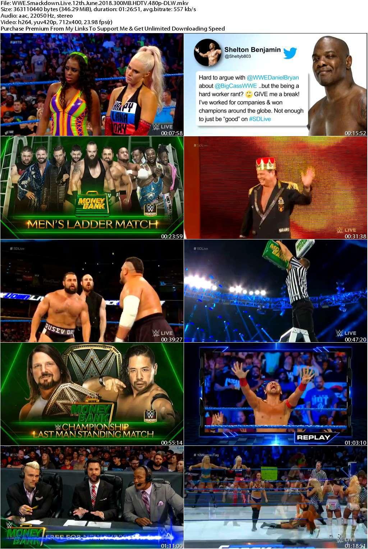 WWE Smackdown Live 12th June 2018 300MB HDTV 480p-DLW