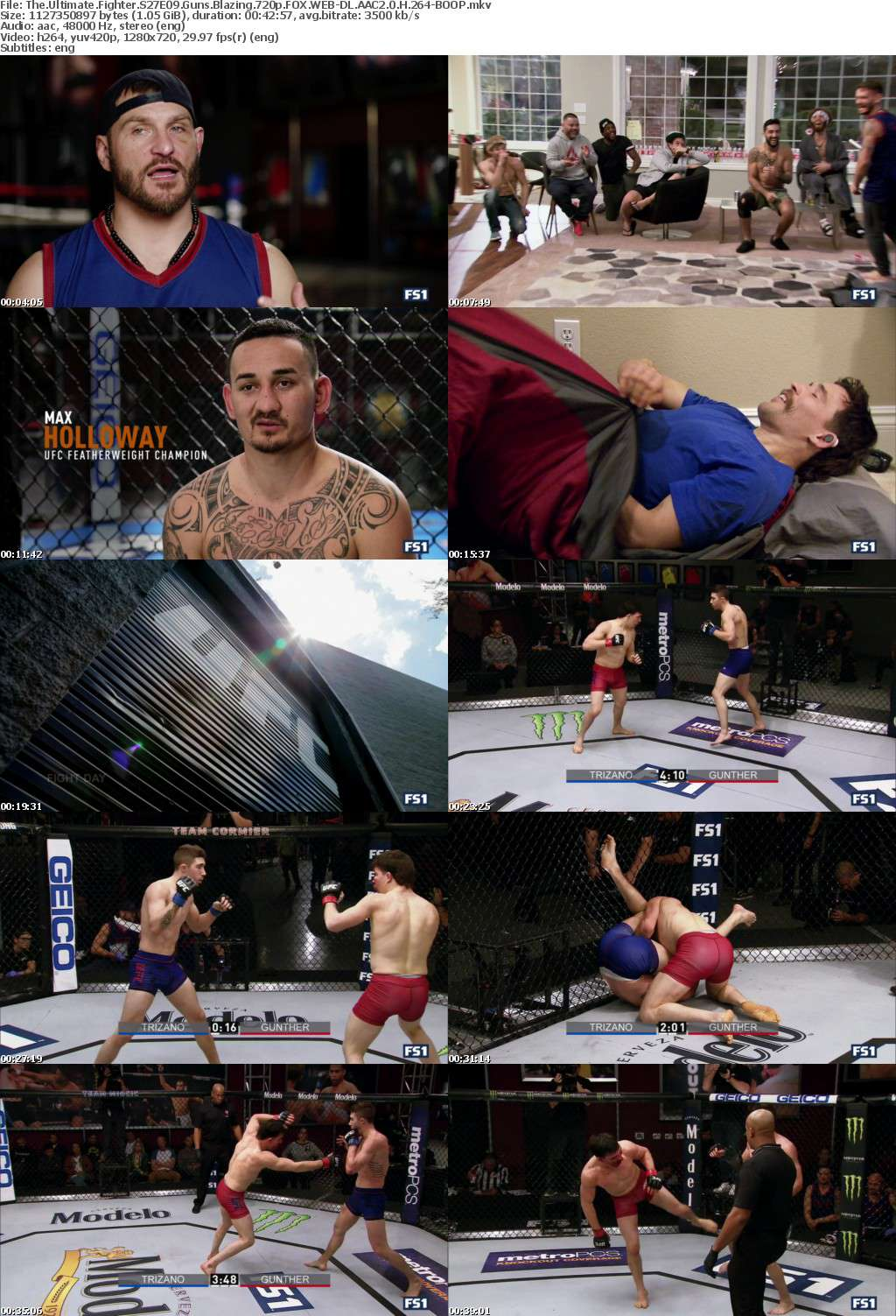 The Ultimate Fighter S27E09 Guns Blazing 720p FOX WEB-DL AAC2 0 H 264-BOOP