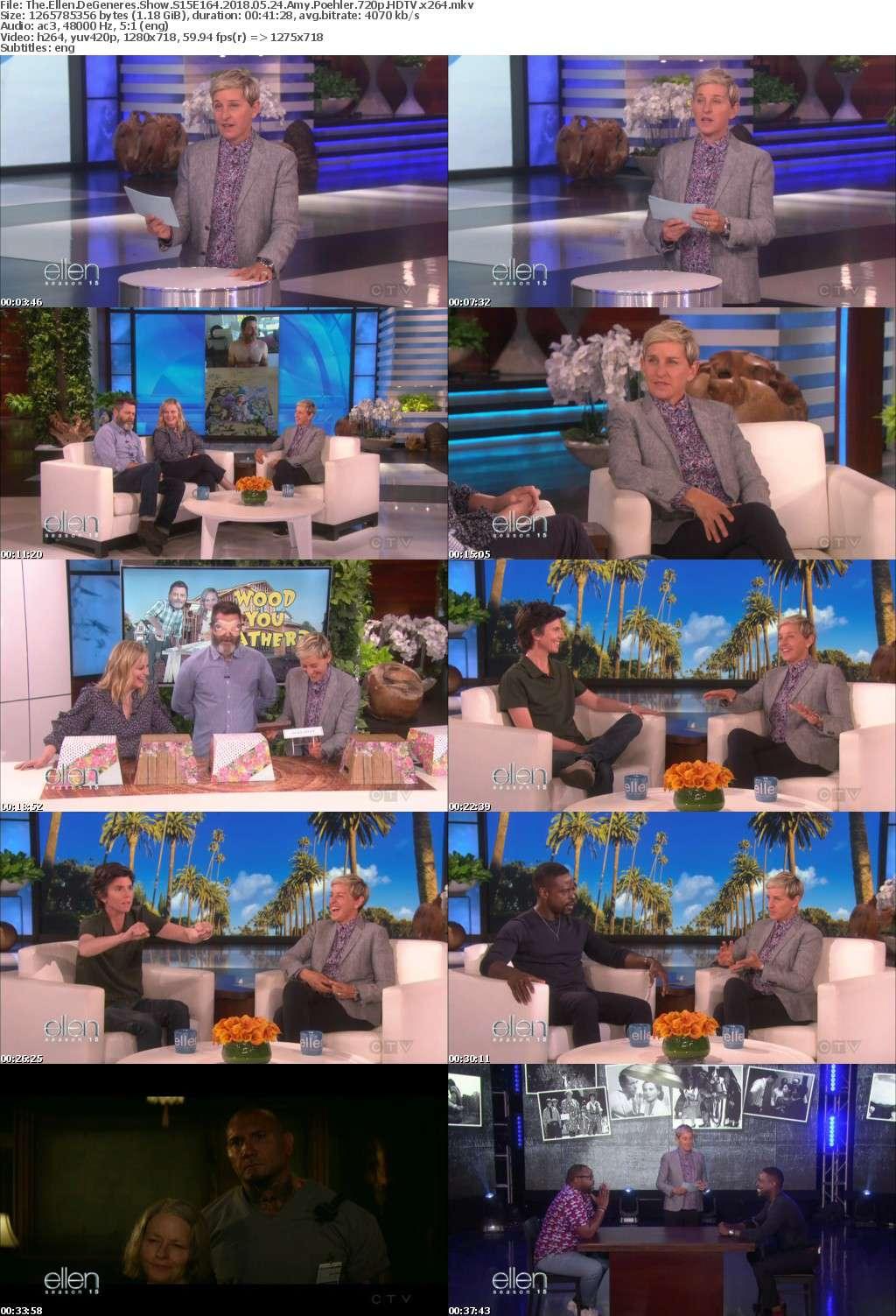 The Ellen DeGeneres Show S15E164 2018 05 24 Amy Poehler 720p HDTV x264