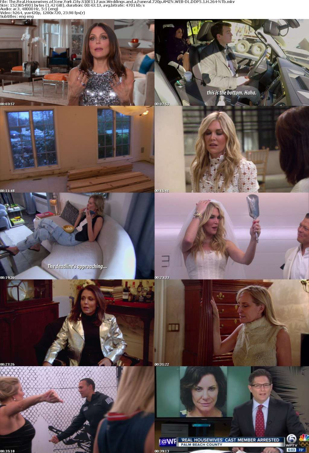 The Real Housewives of New York City S10E11 Faux Weddings and a Funeral 720p AMZN WEB-DL DDP5 1 H 264-NTb