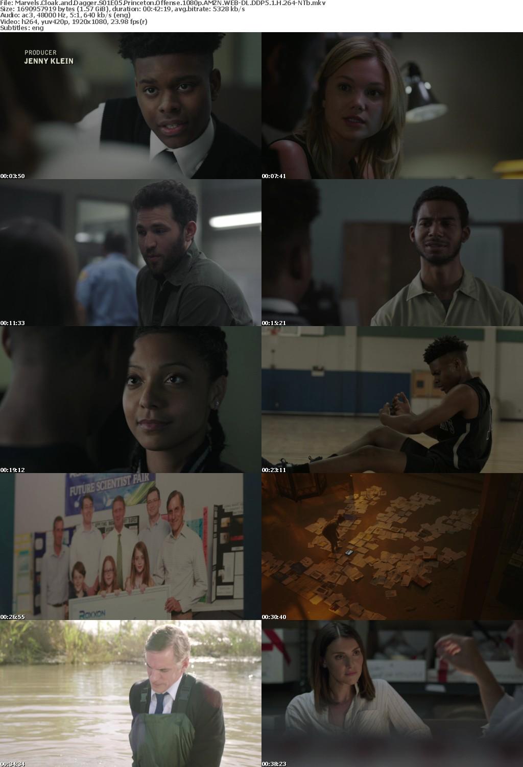 Marvels Cloak and Dagger S01E05 Princeton Offense 1080p AMZN WEB-DL DDP5 1 H 264-NTb