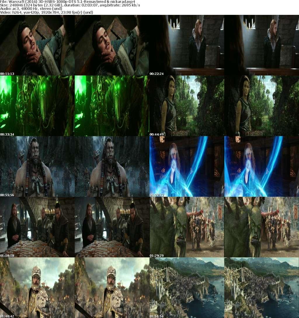 Warcraft (2016) 3D HSBS 1080p BluRay AC 3 Remastered-nickarad