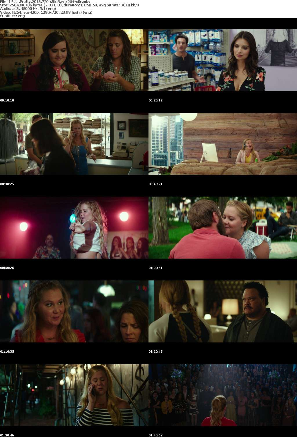 I Feel Pretty (2018) 720p BluRay x264-x0r
