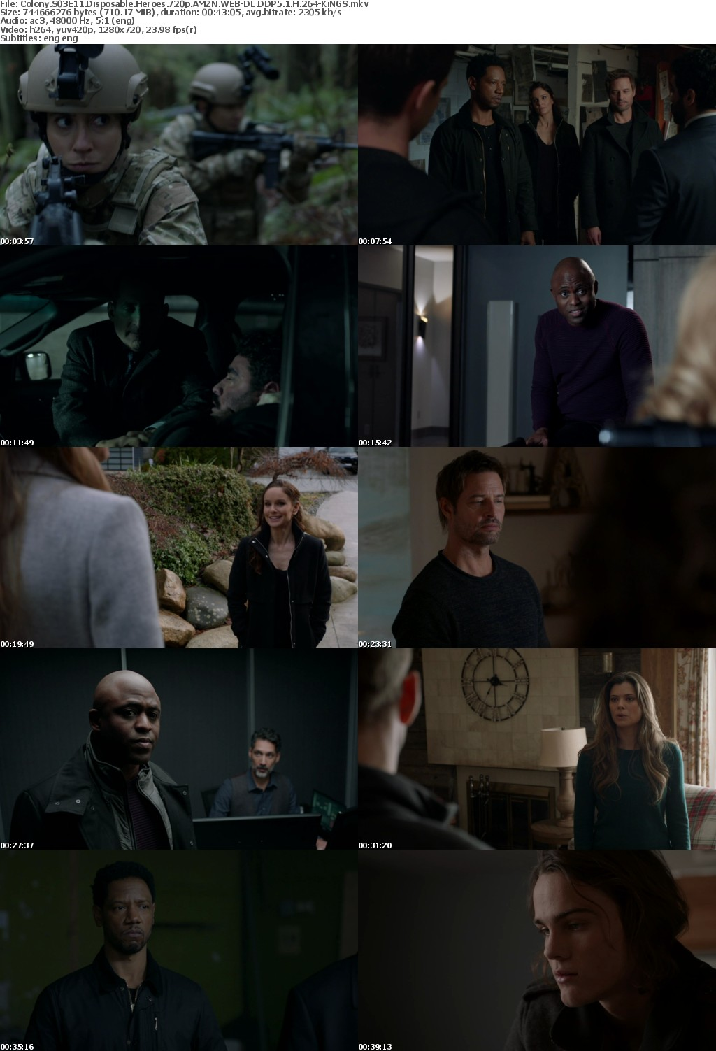 Colony S03E11 Disposable Heroes 720p AMZN WEB-DL DDP5 1 H 264-KiNGS