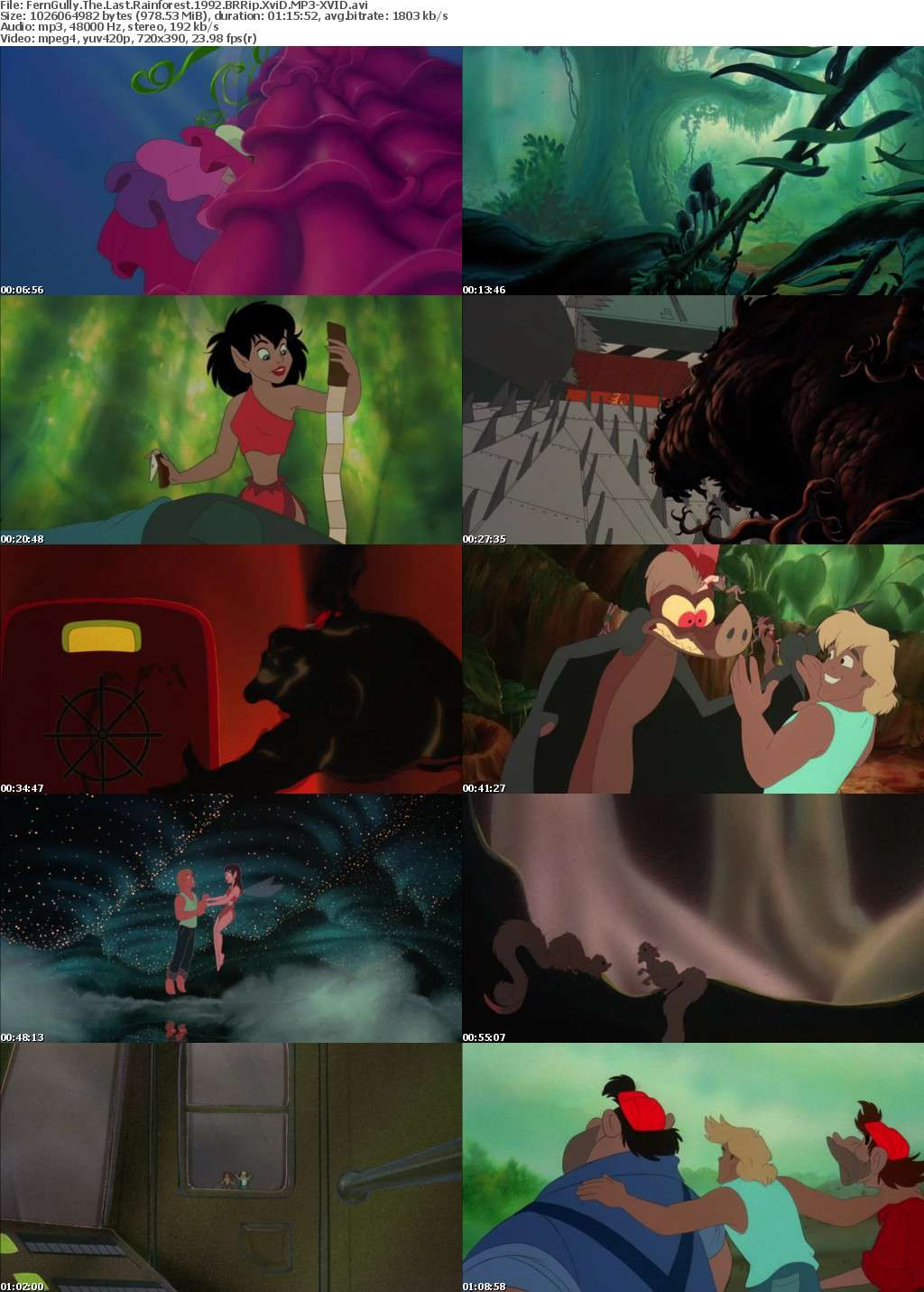 FernGully The Last Rainforest 1992 BRRip XviD MP3-XVID