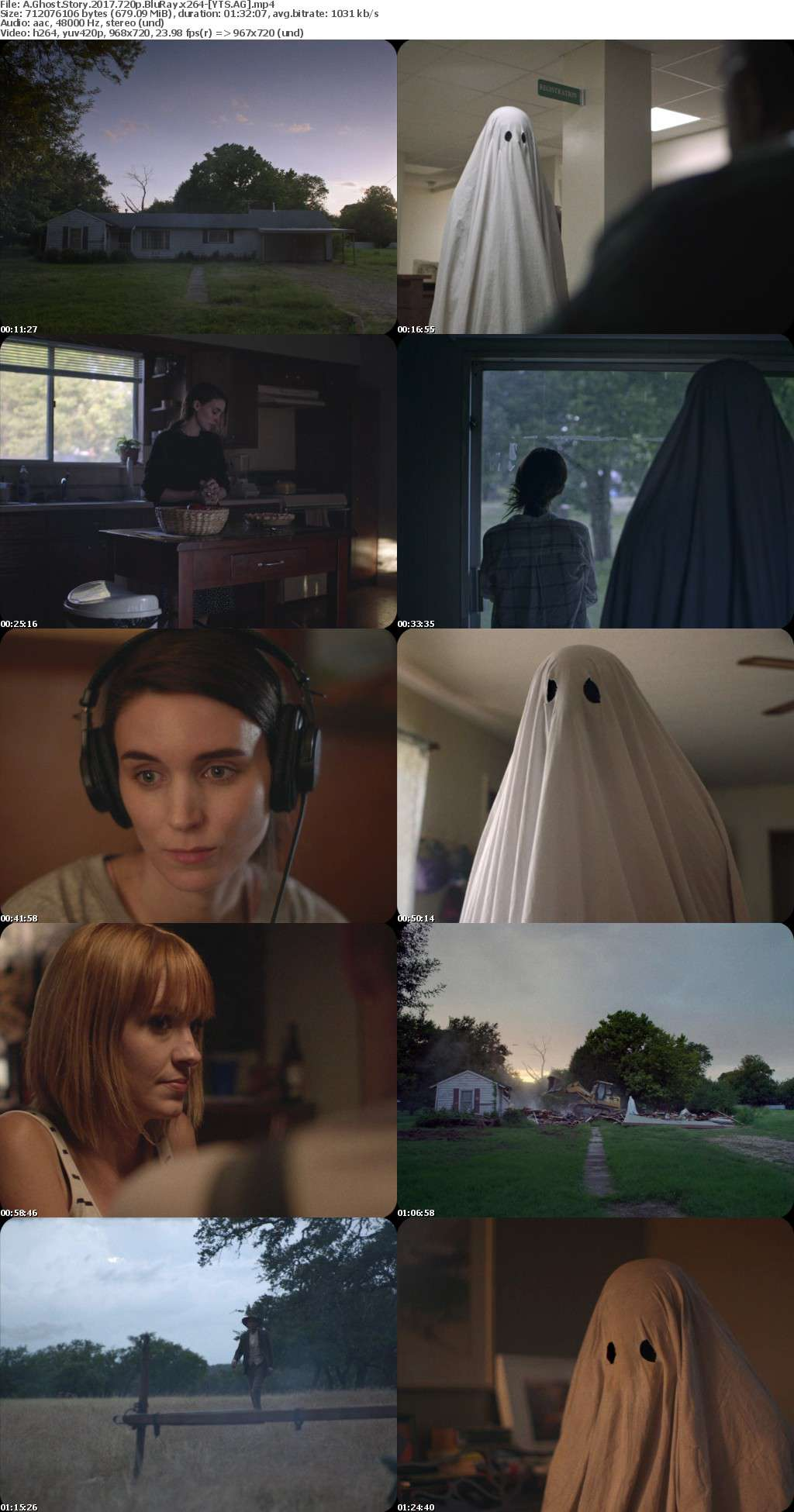 A Ghost Story (2017) [BluRay] [720p] YIFY