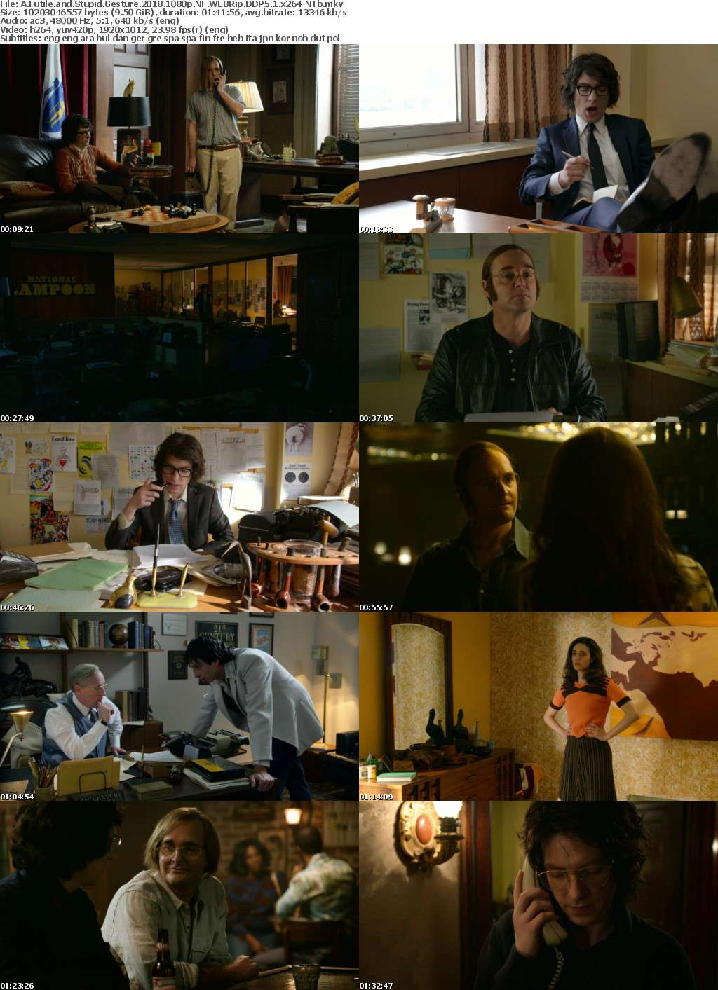 A Futile and Stupid Gesture 2018 1080p NF WEBRip DDP5 1 x264-NTb
