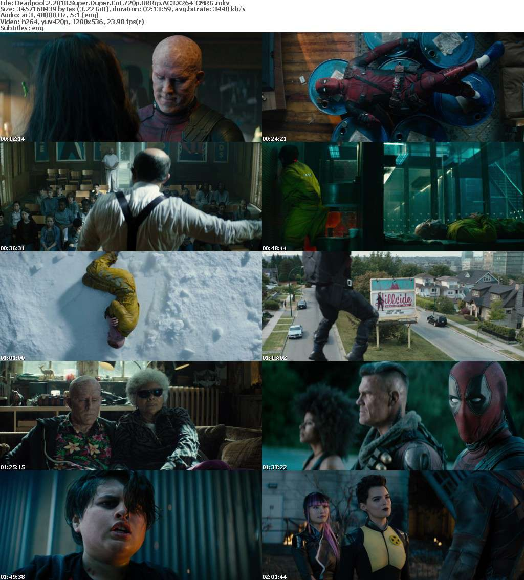 Deadpool 2 (2018) Super Duper Cut 720p BRRip AC3 X264-CMRG