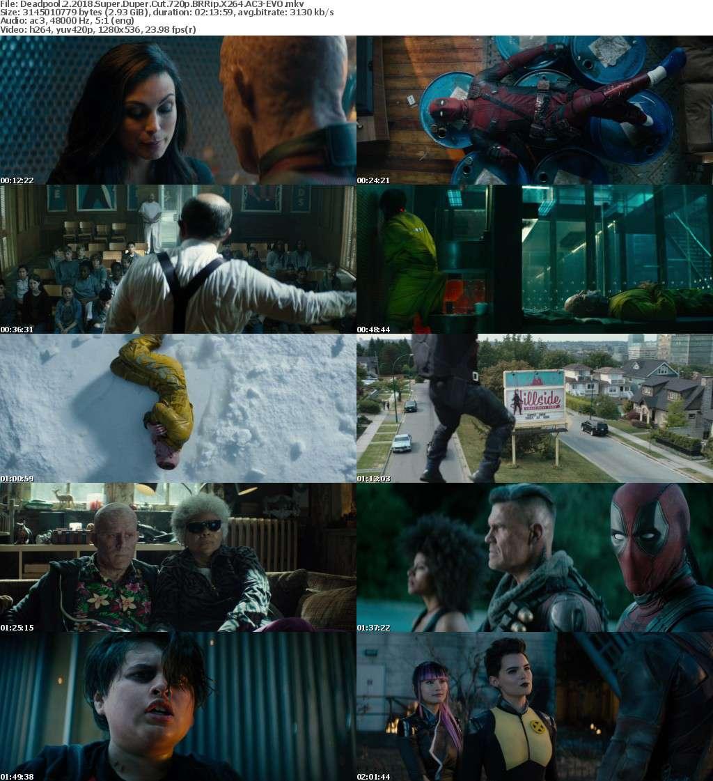 Deadpool 2 (2018) Super Duper Cut 720p BRRip X264 AC3-EVO