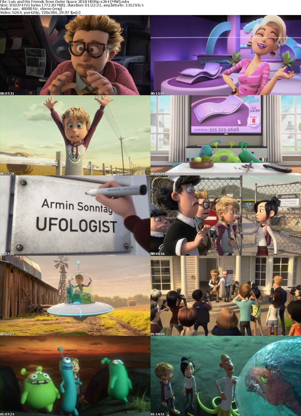 Luis and His Friends from Outer Space (2018) HDRip x264 MW
