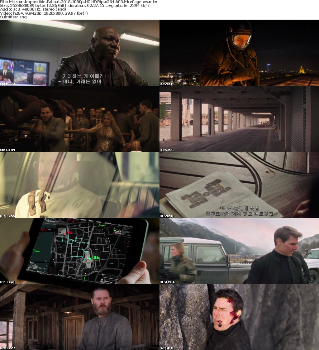 Mission Impossible - Fallout (2018) 1080p HC HDRip AC3 2 3GB - MkvCage