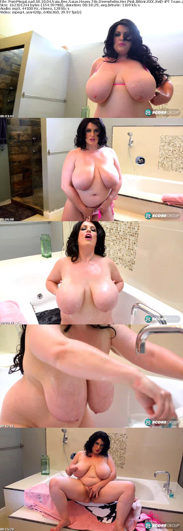 PornMegaLoad 18 10 04 Naia Bee Naias Heavy Tits Overwhelm Her Pink Bikini XXX
