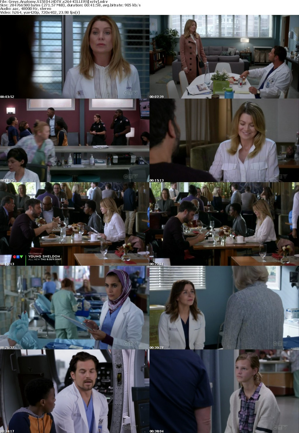 Greys Anatomy S15E04 HDTV x264-KILLERS