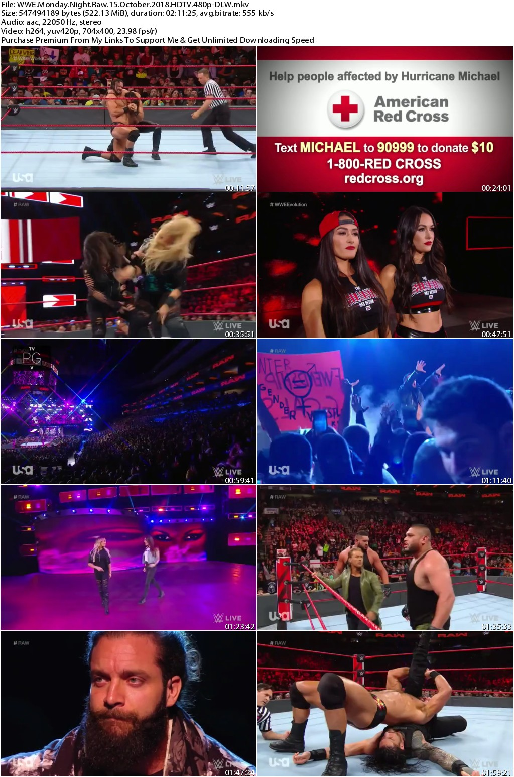 WWE Monday Night Raw 15 October 2018 HDTV 480p-DLW