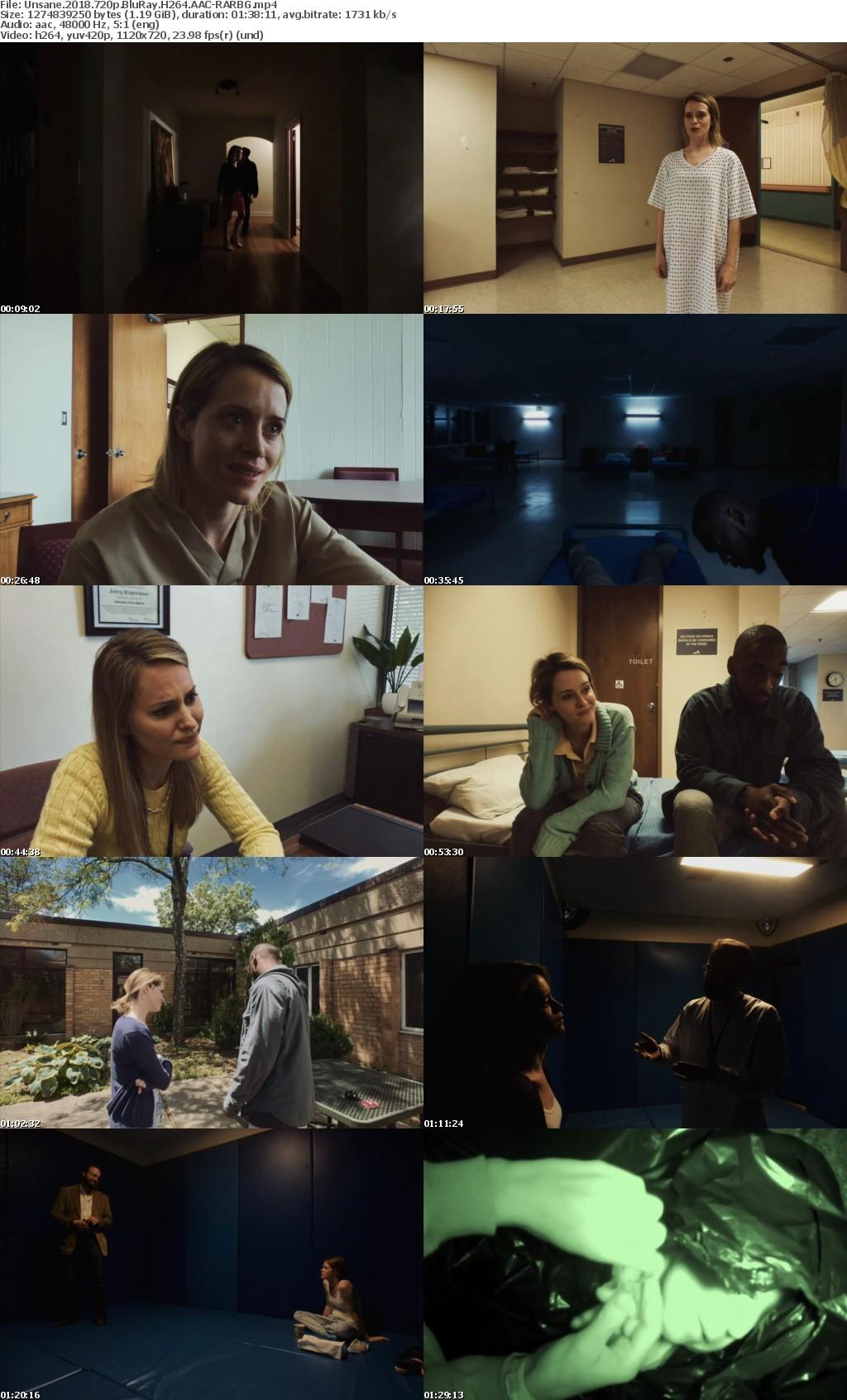 Unsane (2018) 720p BluRay H264 AAC-RARBG
