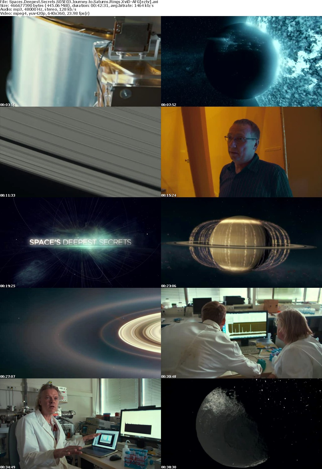 Spaces Deepest Secrets S05E03 Journey to Saturns Rings XviD-AFG
