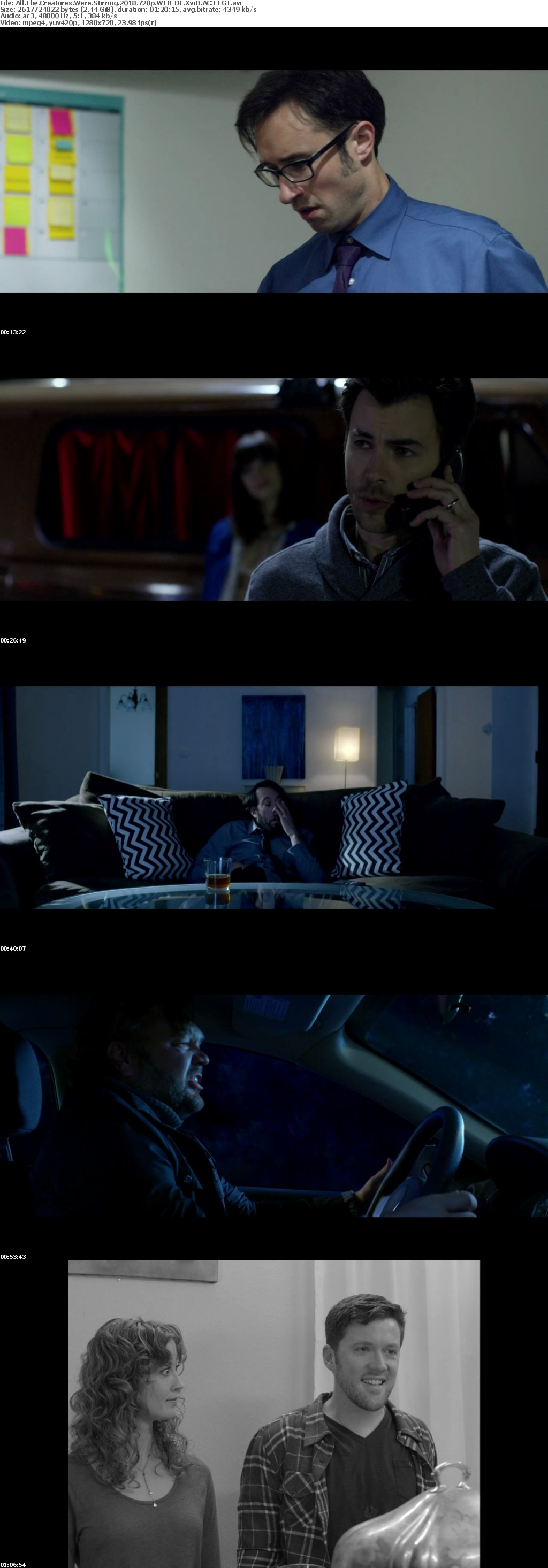 All The Creatures Were Stirring 2018 720p WEB-DL XviD AC3-FGT
