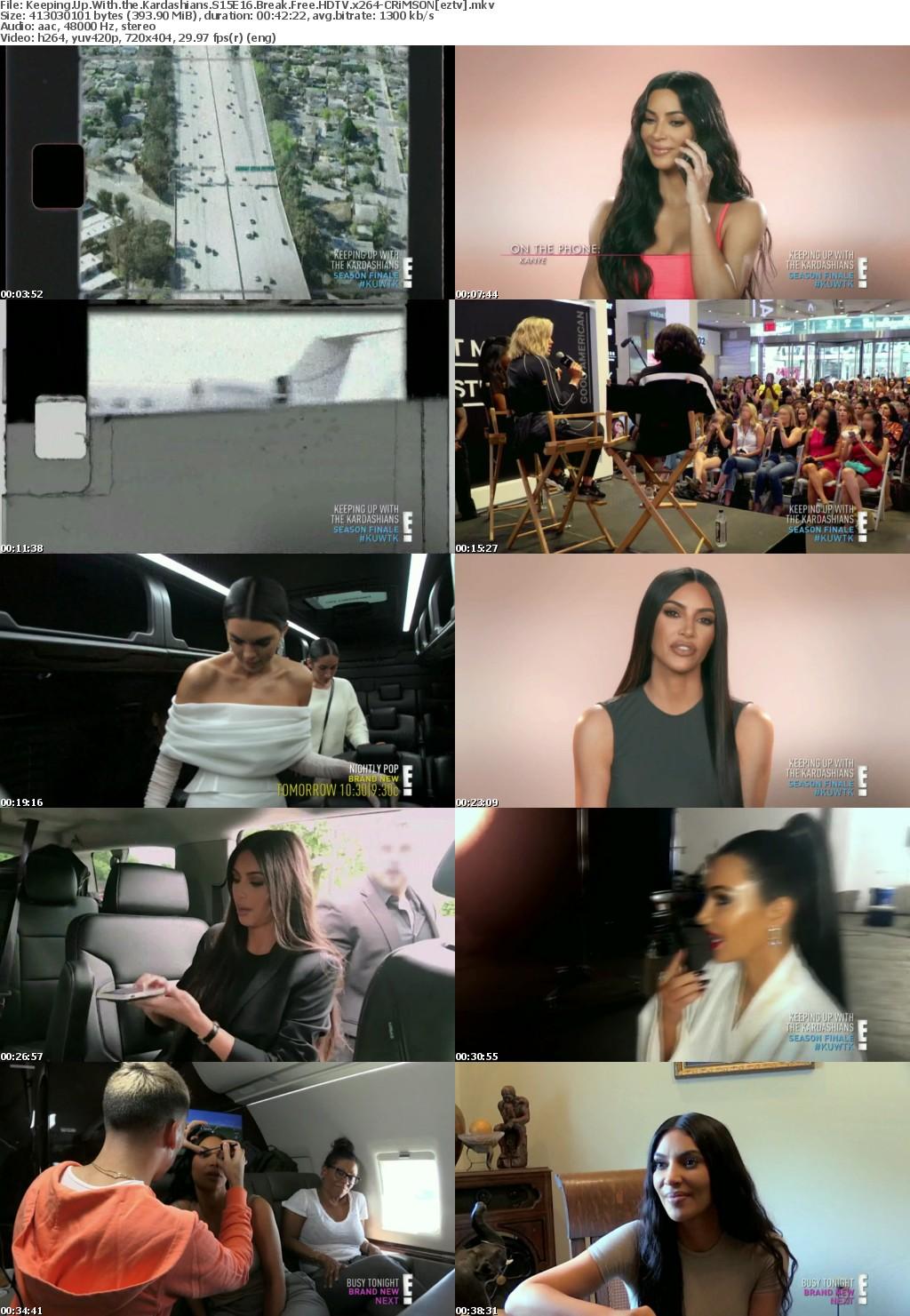 Keeping Up With the Kardashians S15E16 Break Free HDTV x264-CRiMSON