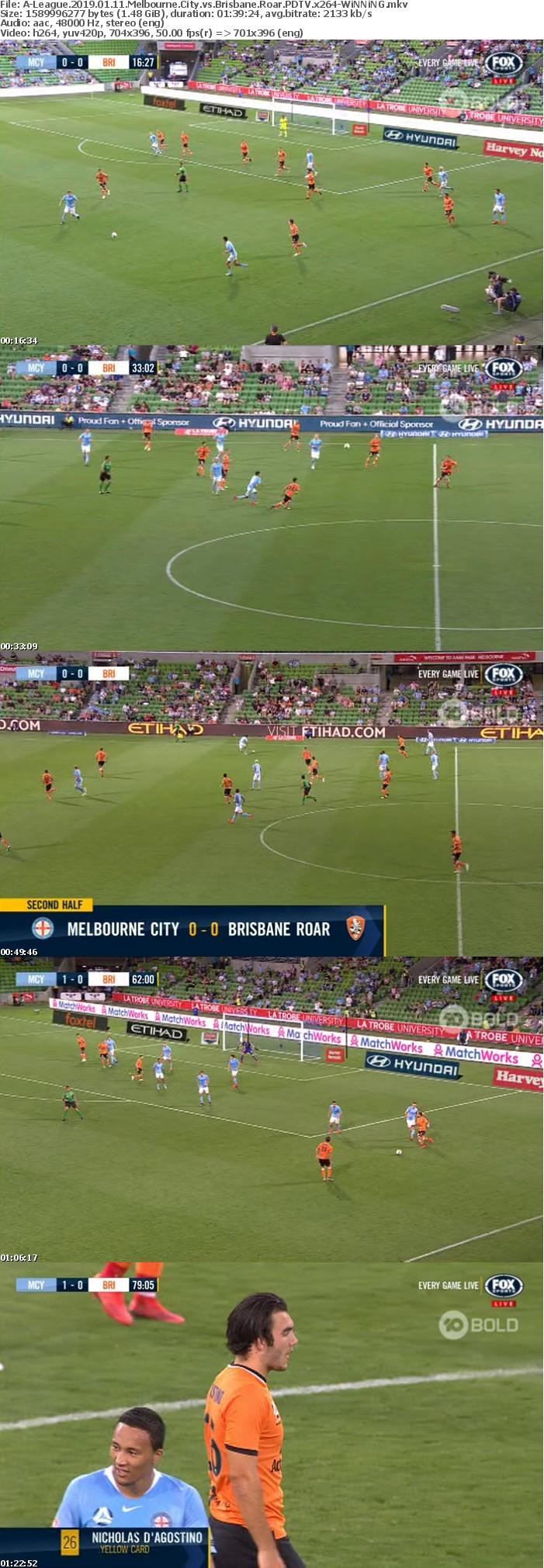 A-League 2019 01 11 Melbourne City vs Brisbane Roar PDTV x264-WiNNiNG