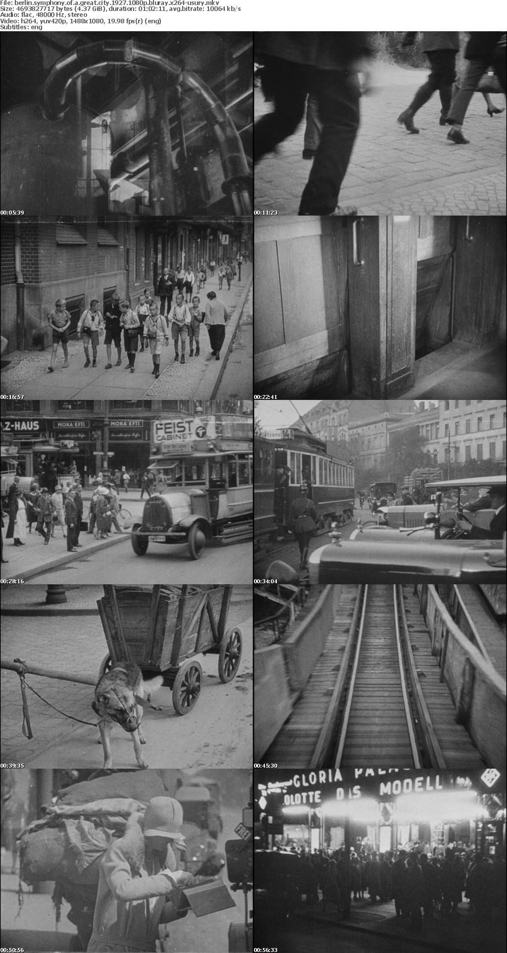 Berlin Symphony of a Great City 1927 1080p BluRay x264-USURYrarbg