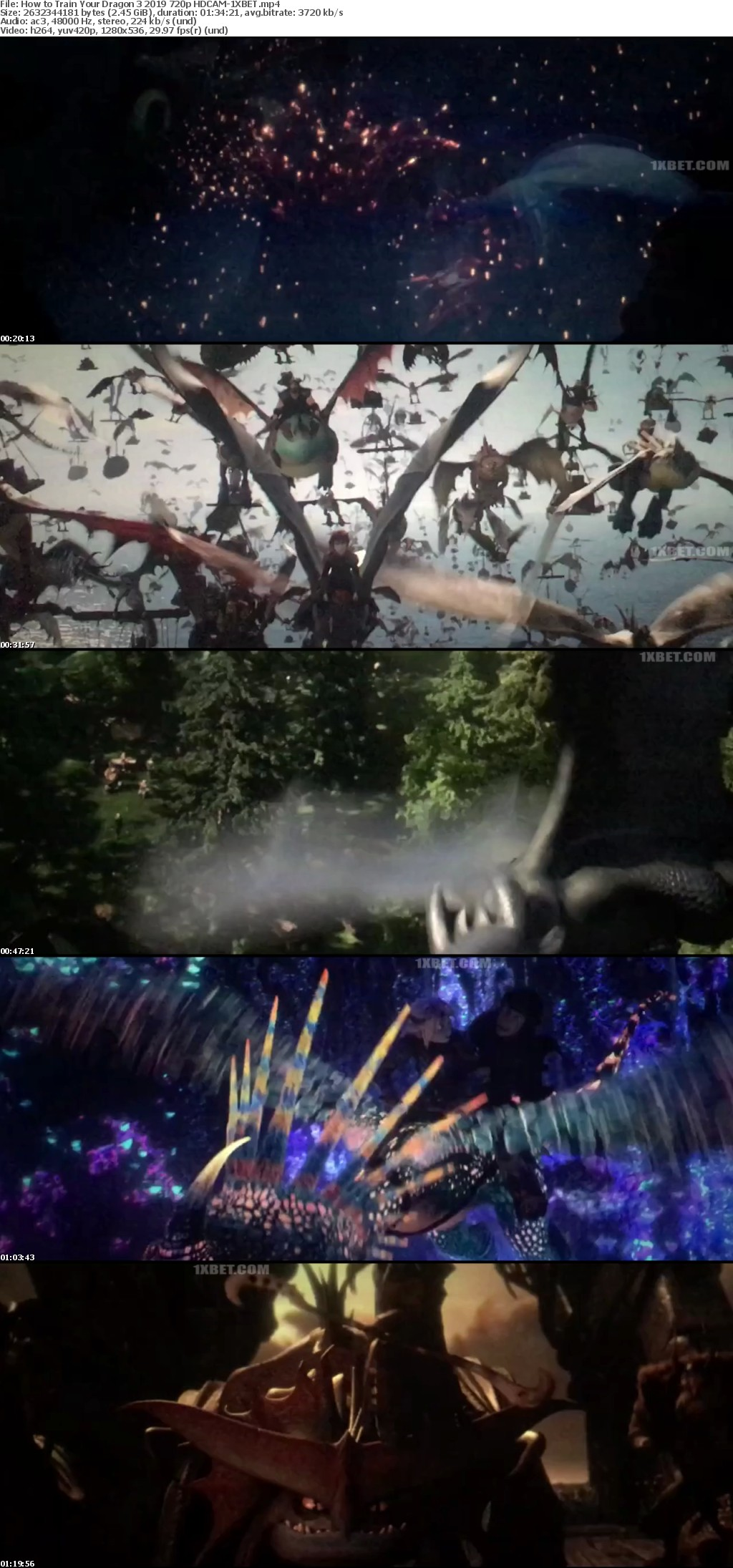 How to Train Your Dragon The Hidden World (2019) 720p HDCAM-1XBET