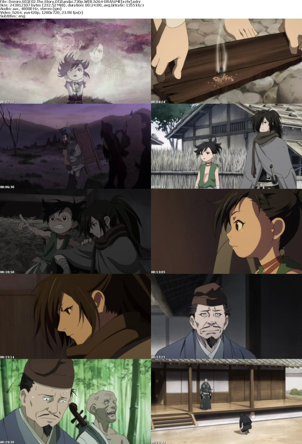 Dororo S01E02 The Story Of Bandai 720p WEB h264-URANiME