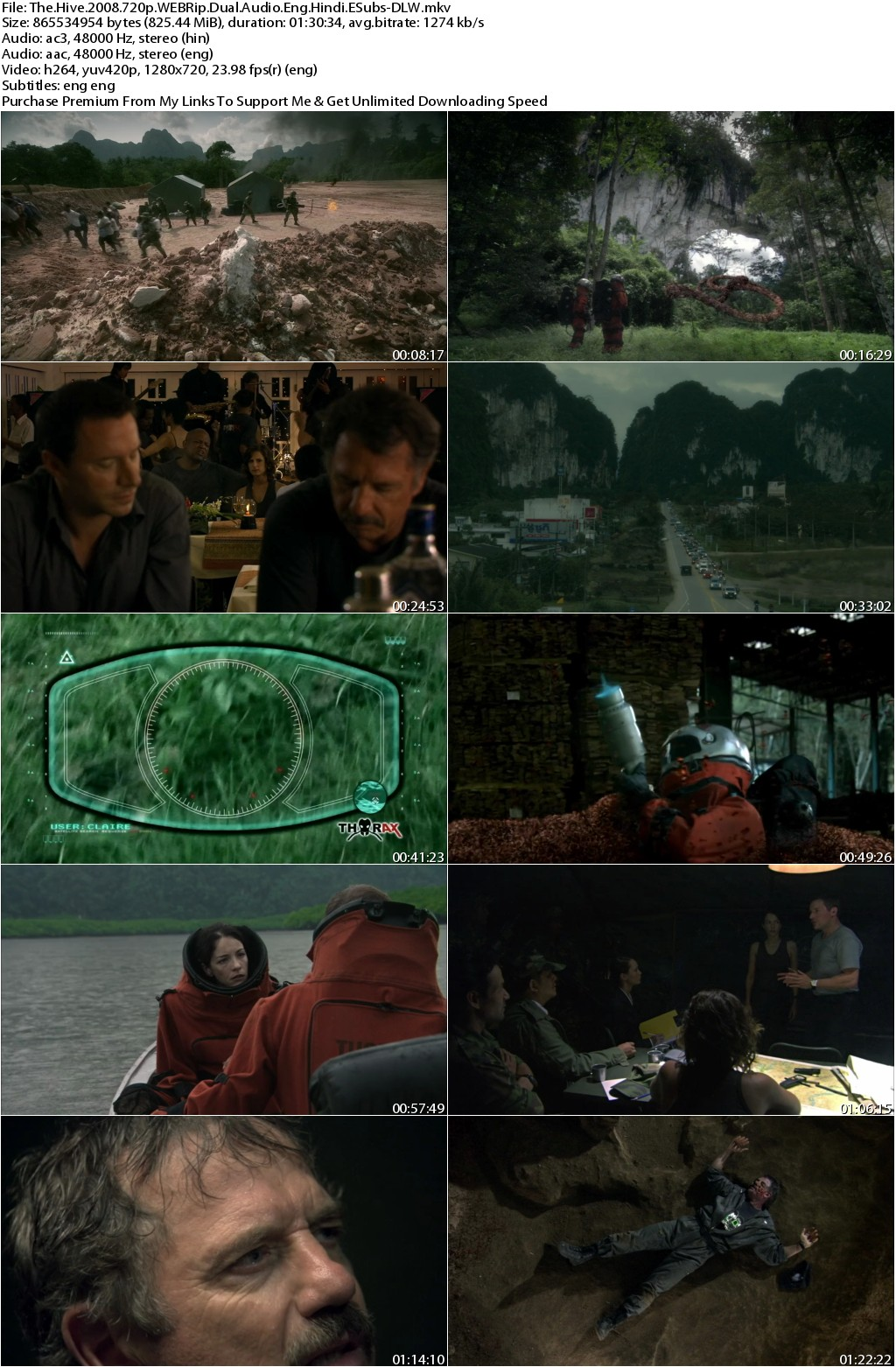The Hive (2008) 720p WEBRip Dual Audio Eng Hindi ESubs-DLW