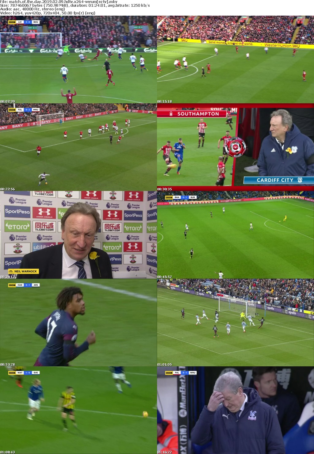 Match Of The Day (2019) 02.09 HDTV x264-VERUM