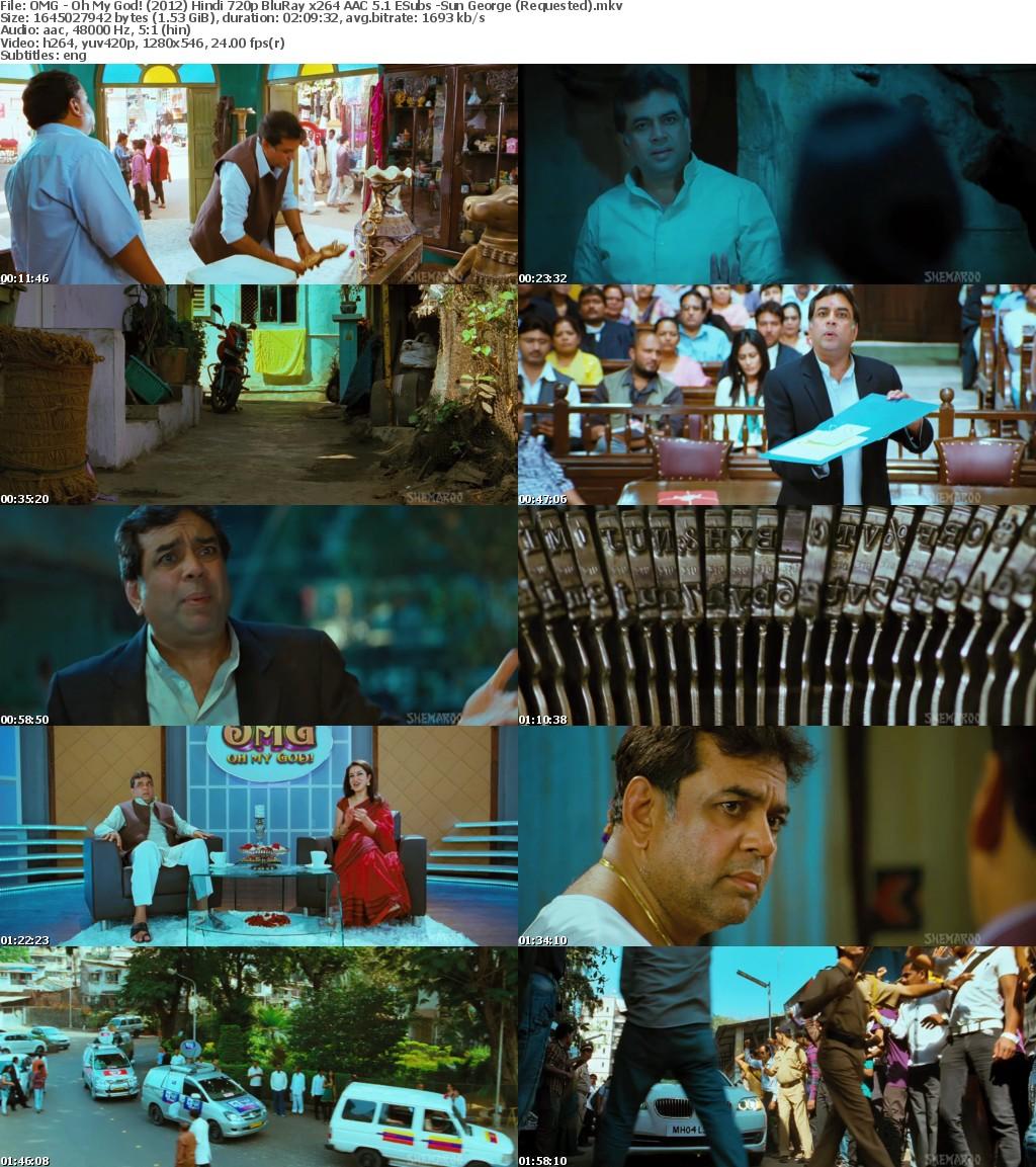 OMG - Oh My God! (2012) Hindi 720p BluRay x264 AAC 5 1 ESubs -Sun George (Requested)