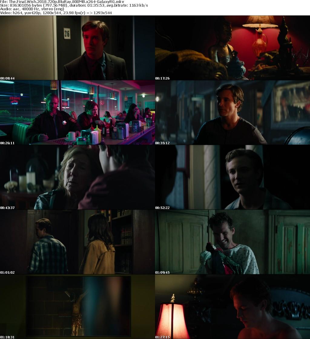 The Final Wish (2018) 720p BluRay 800MB x264-GalaxyRG