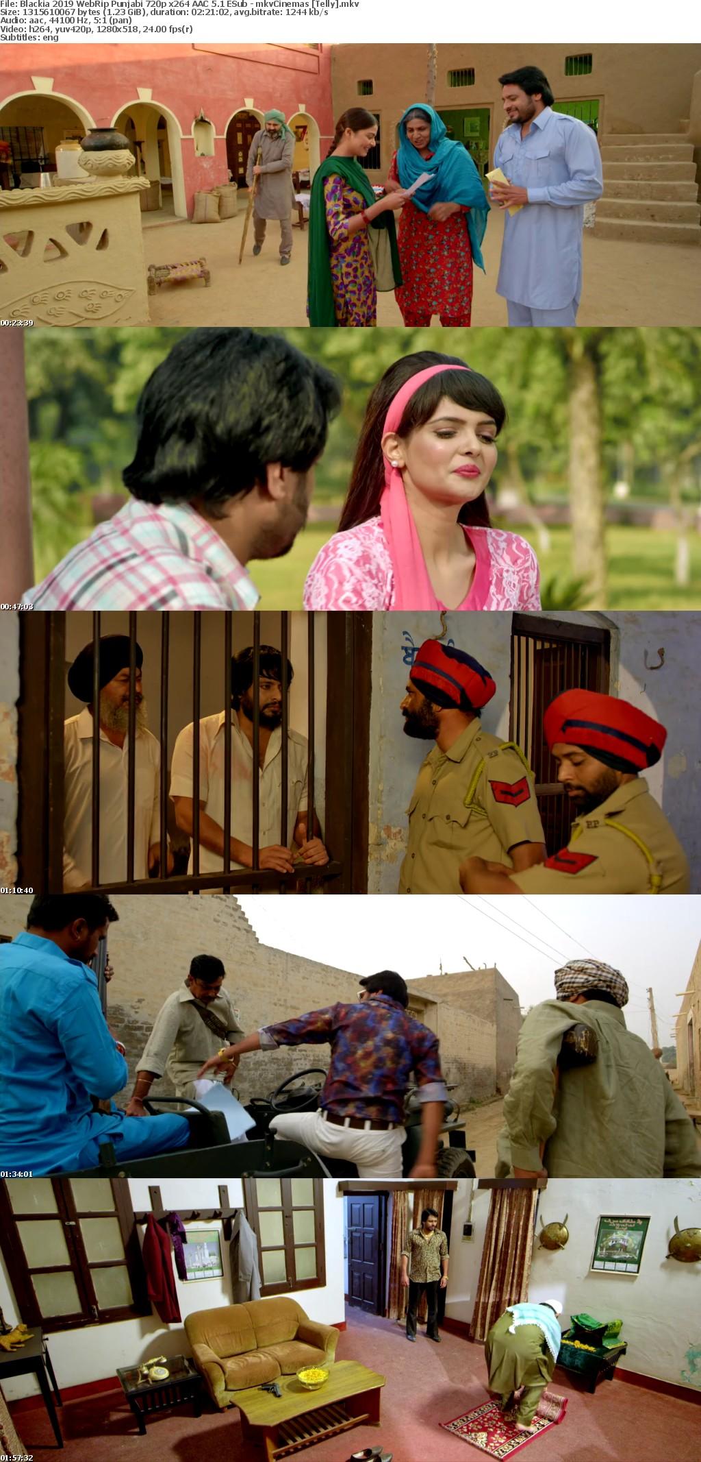 Blackia 2019 WebRip Punjabi 720p x264 AAC 5 1 ESub - mkvCinemas [Telly]