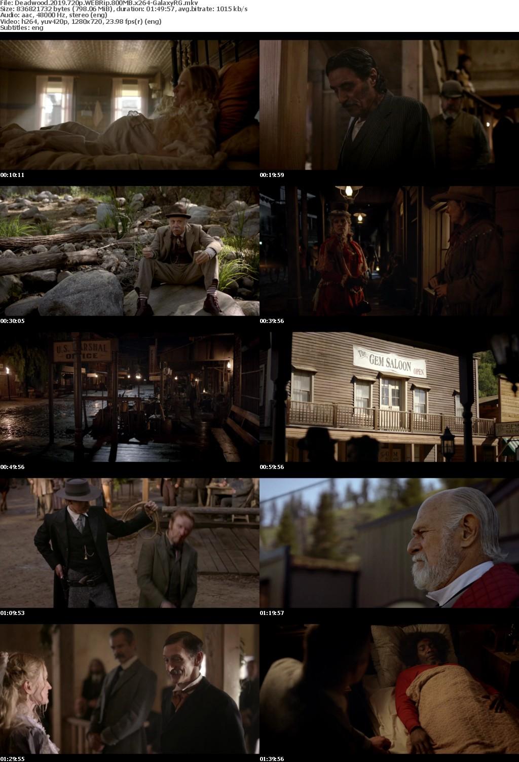Deadwood (2019) 720p WEBRip 800MB x264-GalaxyRG