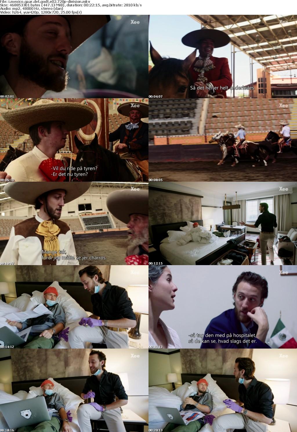 I Mexico Gaar Det Godt E02 DANiSH 720p HDTV x264-DiViSiON