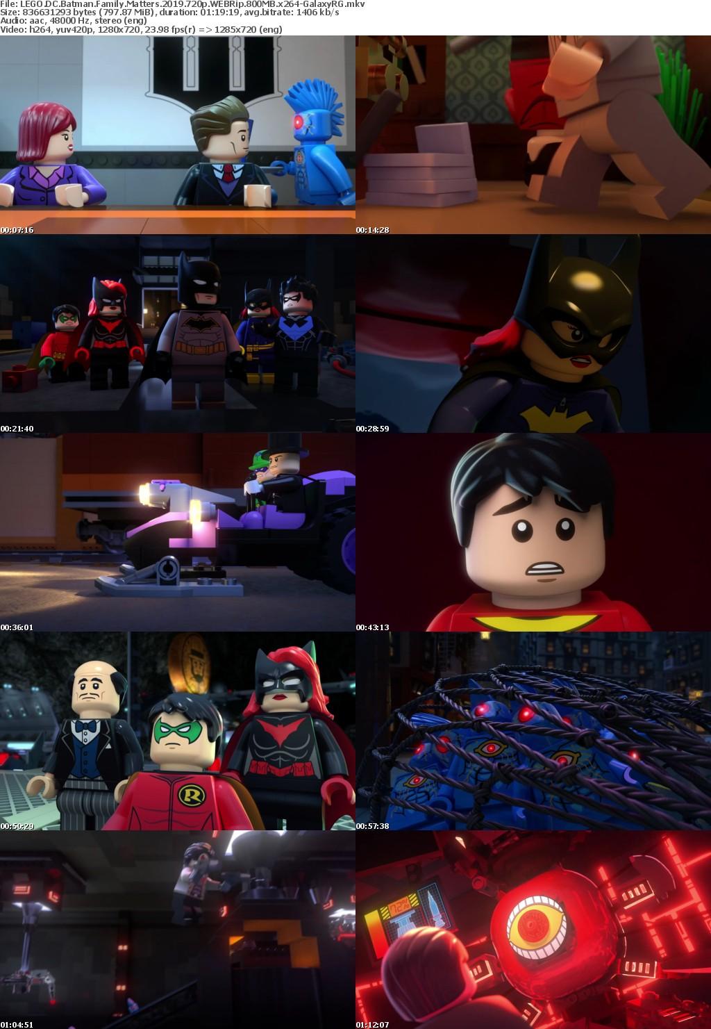 LEGO DC Batman Family Matters (2019) 720p WEBRip 800MB x264 GalaxyRG