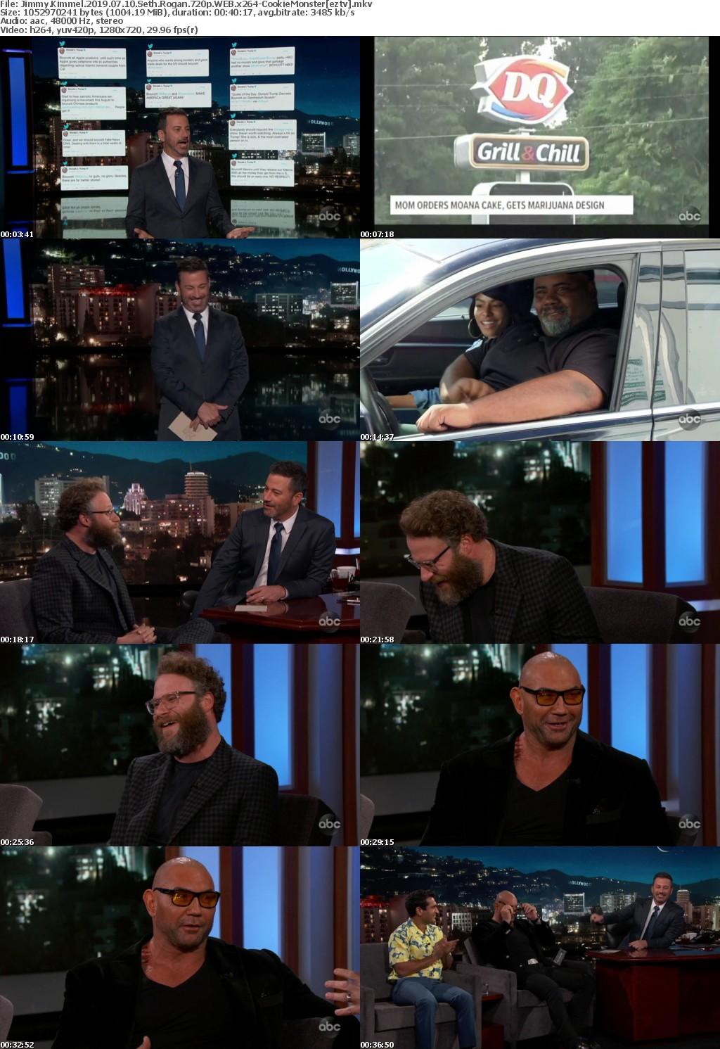 Jimmy Kimmel 2019 07 10 Seth Rogan 720p WEB x264 CookieMonster