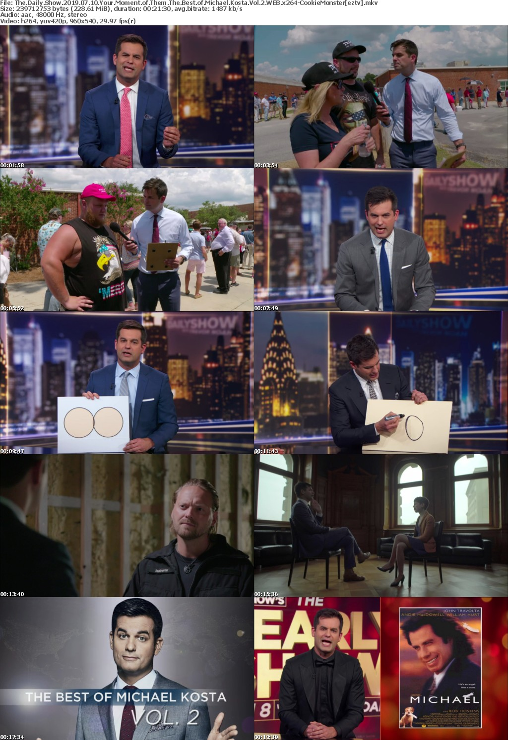 The Daily Show 2019 07 10 Your Moment of Them The Best of Michael Kosta Vol 2 WEB x264 CookieMonster