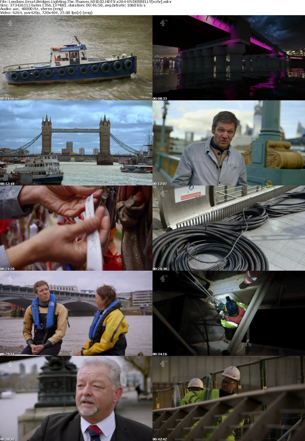 Londons Great Bridges Lighting The Thames S01E02 HDTV x264 UNDERBELLY