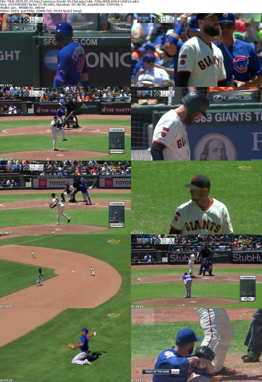 MLB 2019 07 24 San Francisco Giants Vs Chicago Cubs 720p WEB H264-LiNKLE