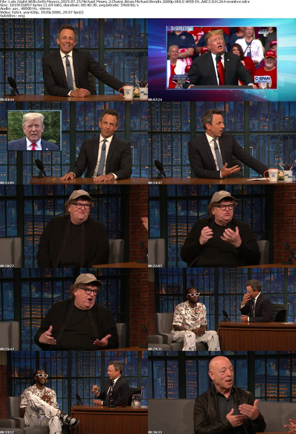 Late Night With Seth Meyers 2019 07 25 Michael Moore 2 Chainz Brian Michael Bendis 1080p HULU WEB-DL AAC2 0 H 264-monkee
