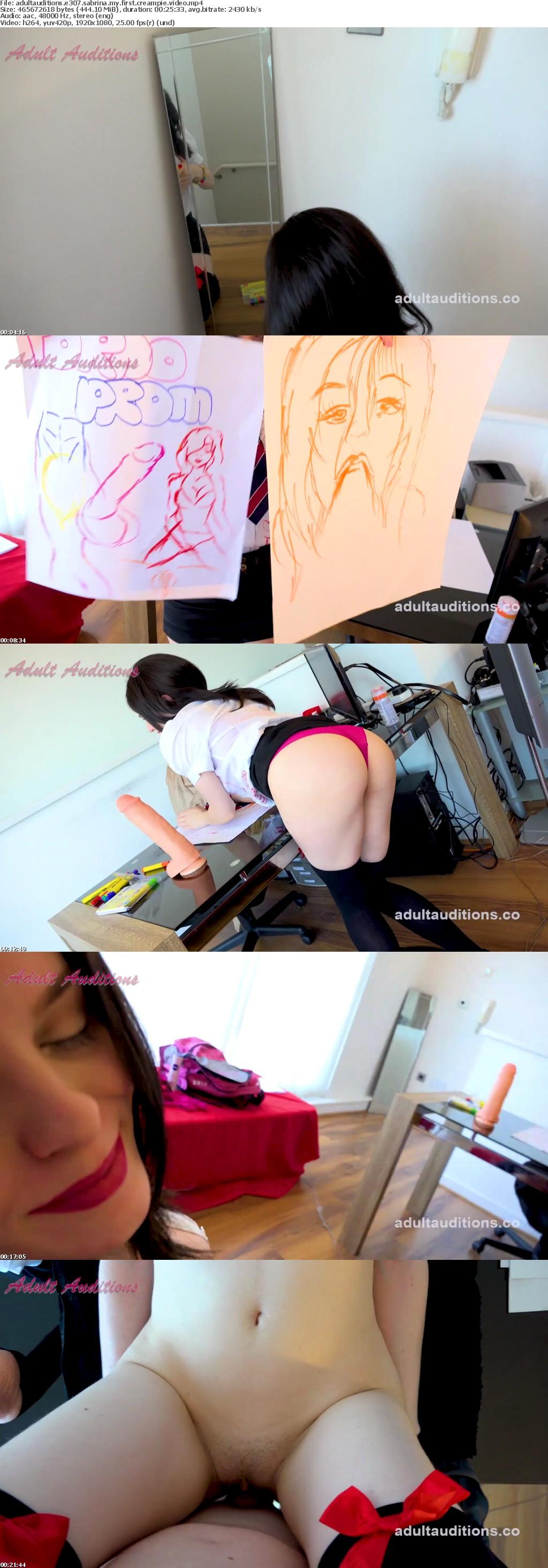 AdultAuditions E307 Sabrina My First Creampie Video XXX 1080p MP4-KTR