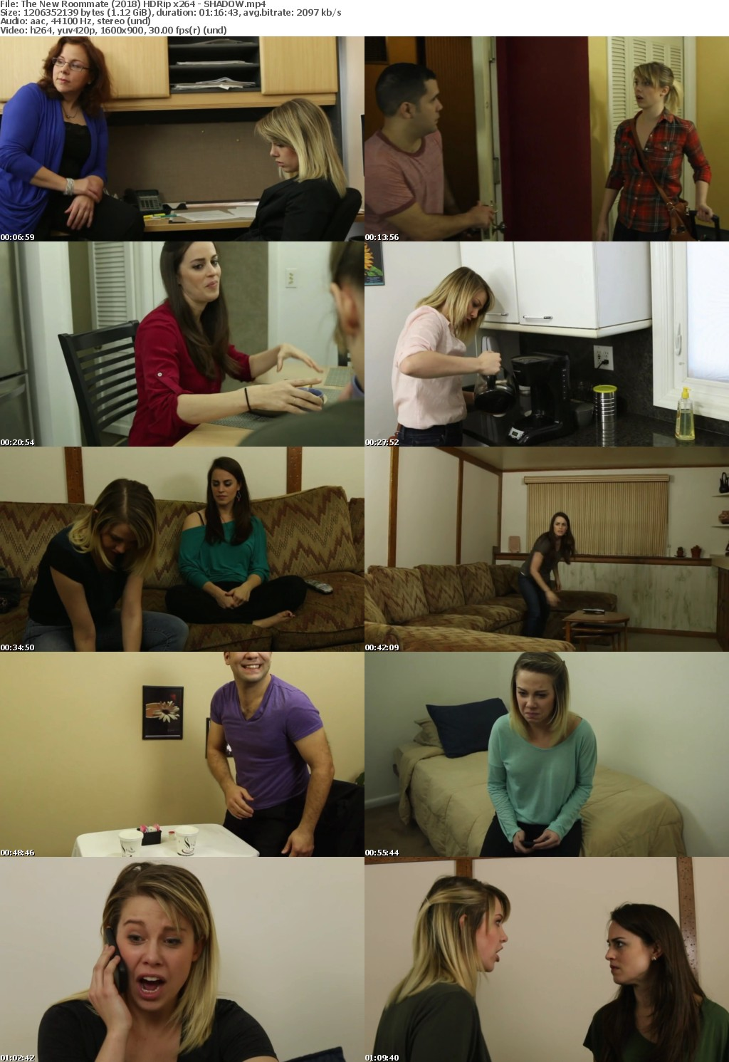 The New Roommate (2018) HDRip x264 - SHADOW